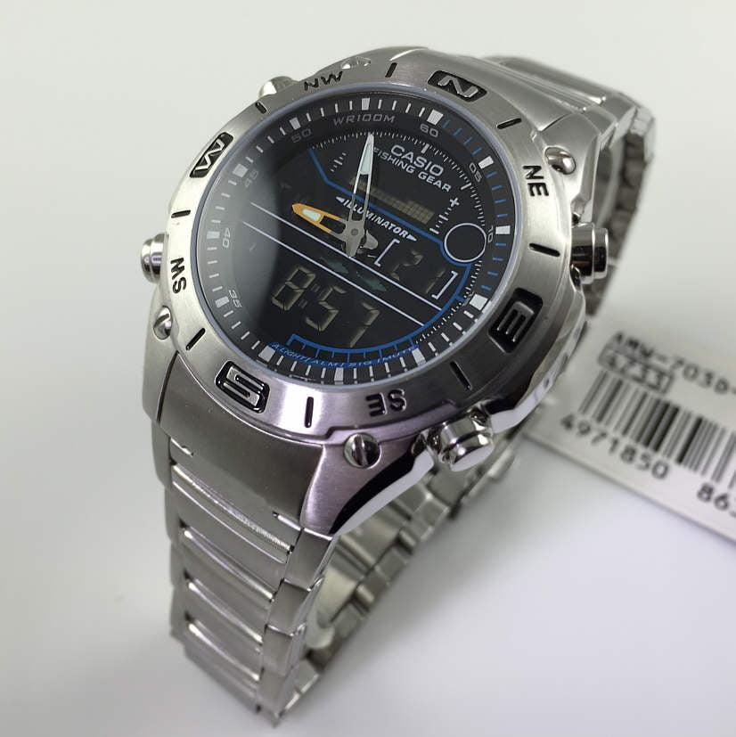 Casio Men's Core AMW703D-1AV Silver Stainless-Steel Quart...