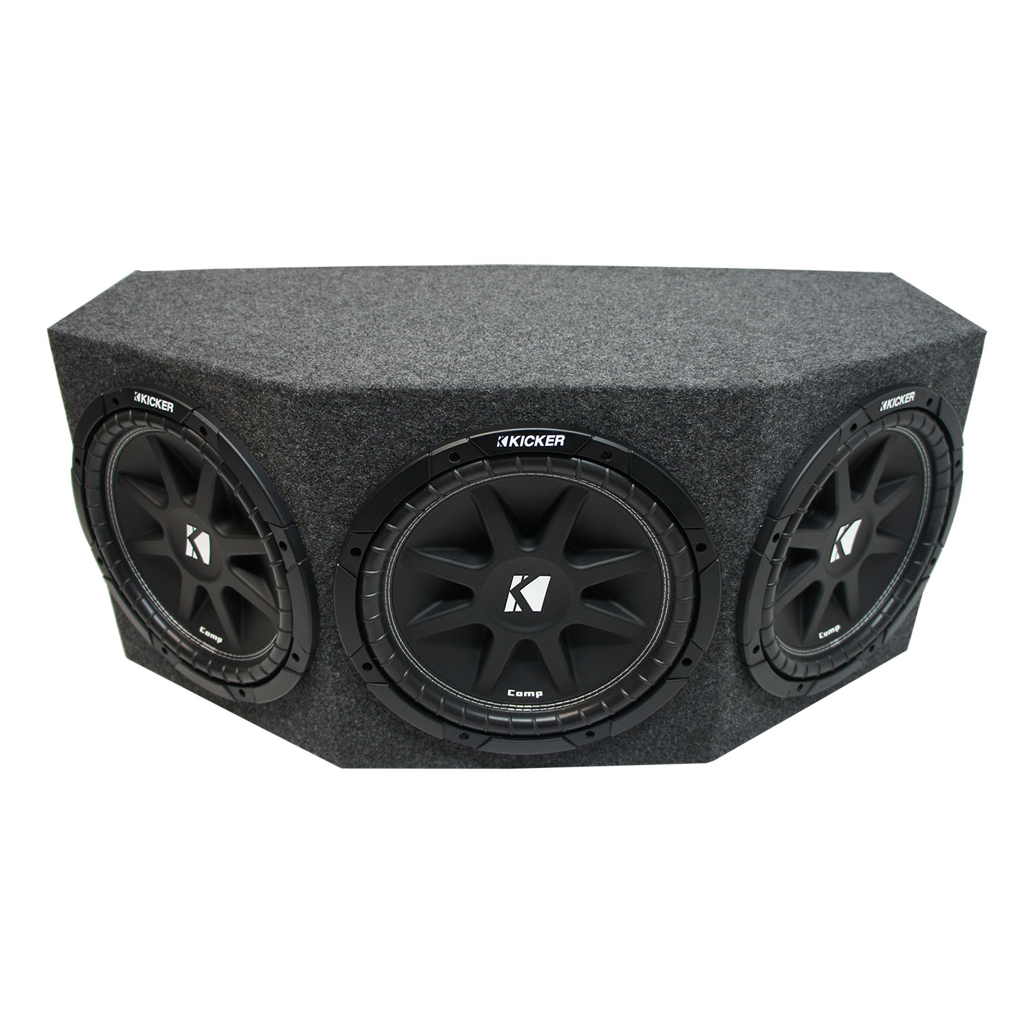 "Kicker Comp C12 Triple 12"" Subwoofer Loaded 900 Watt Sub Box - Final 1.3 Ohm"