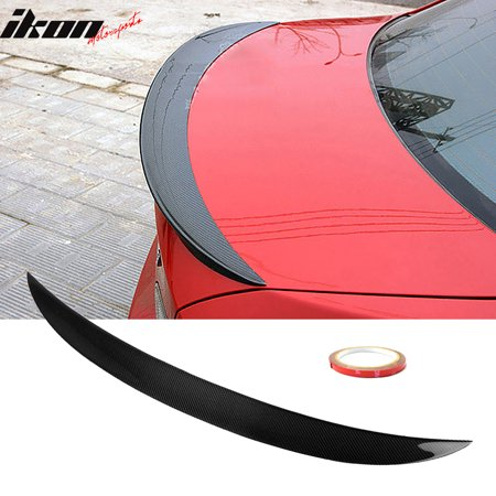 Fits 07-13 BMW 3-Series E92 P Style Trunk Spoiler Lip Wing - - E92 Roof Spoiler
