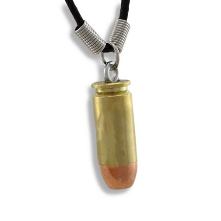 9mm Luger Bullet Brass/Copper Necklace Guns Ammo Reproduction