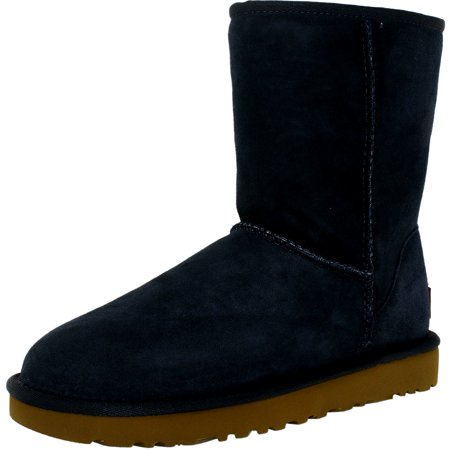 Ugg Women's Classic Short II Navy Ankle-High Suede Boot - 6M