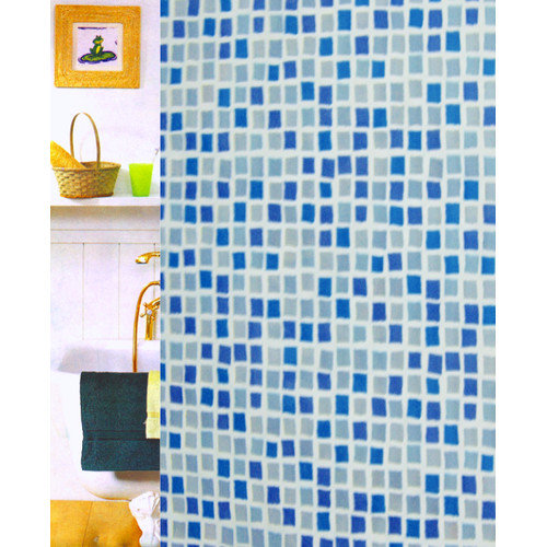 Carnation Home Fashions Mosaic Vinyl Shower Curtain