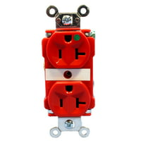 Pass and Seymour 8300-RED Straight Blade Receptacle Duplex Outlet 5-20R 20A 125V