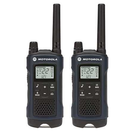 Motorola I355 - Motorola Talkabout T460 FRS/GMRS 2-Way Radios with 35 Mile Range and NOAA Notifications, Dark Blue