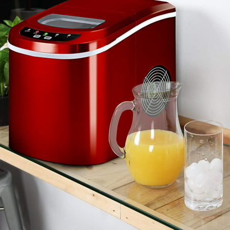 Costway Portable Compact Electric Ice Maker Machine Mini Cube 26lb / Day Red - image 1 of 10