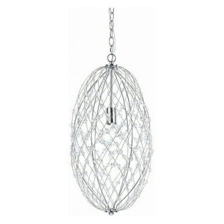 - AF Lighting 8287-1H Tear Drop Silver Web Pendant