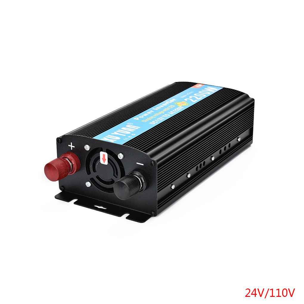XUYUAN 2200W Car Power Inverter 12V/24V DC to 110/220V