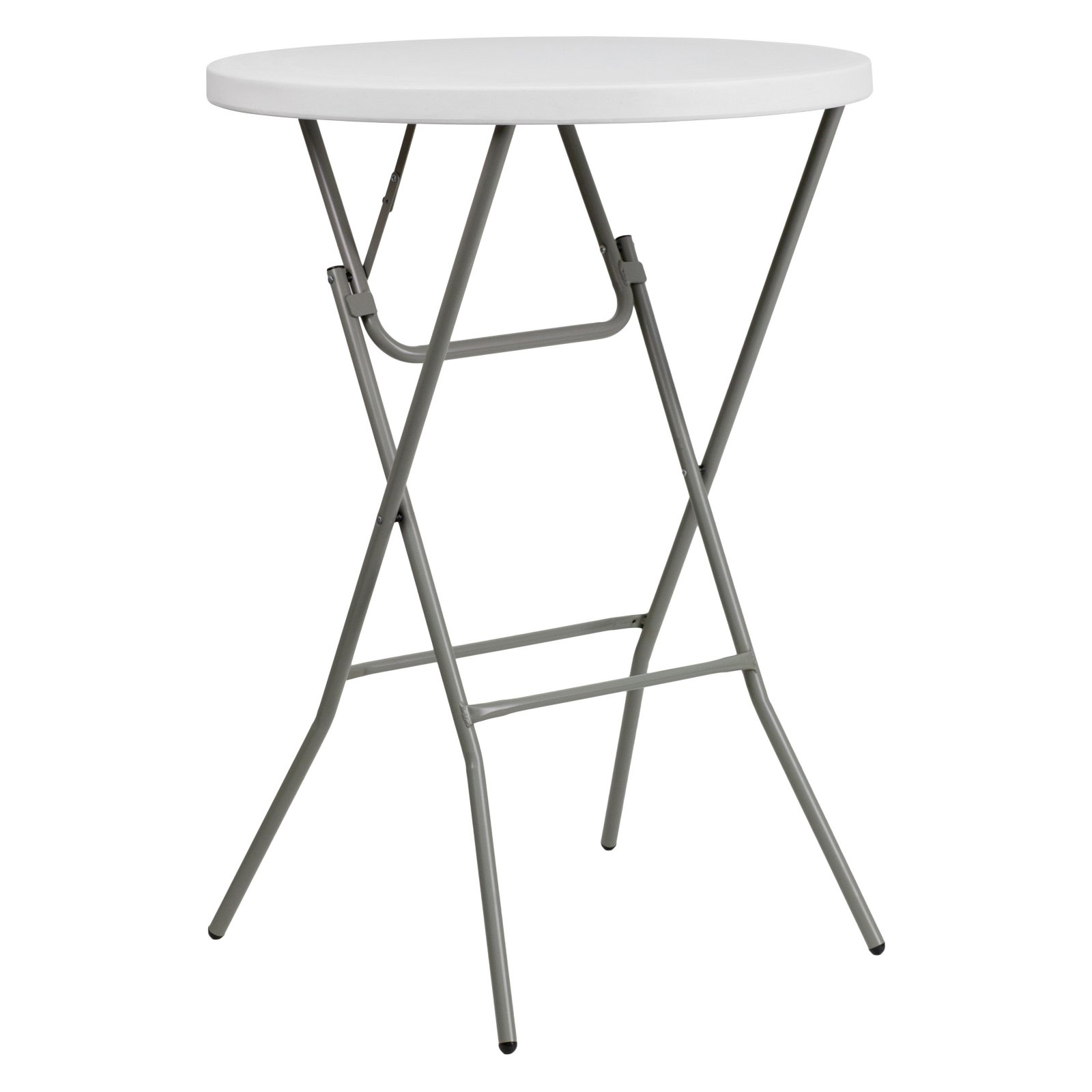 Flash Furniture 32'' Round Granite White Plastic Bar Height Folding Table by Flash Furniture