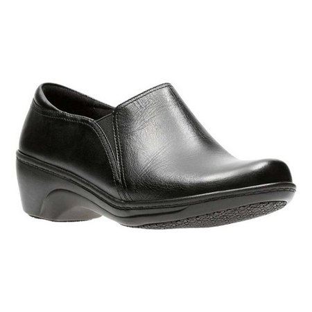 - Clarks Womens Leather Slip Resistant Work Shoes