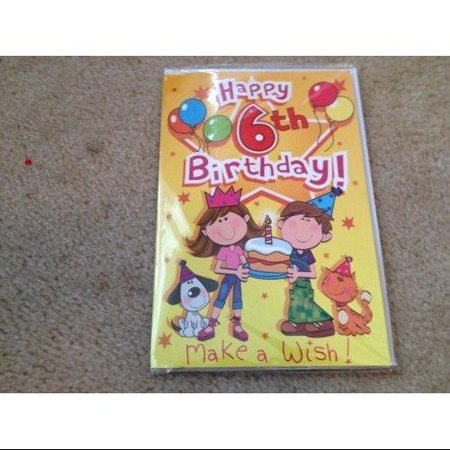 Singing Card- Happy 6th Birthday - Singing Happy Birthday