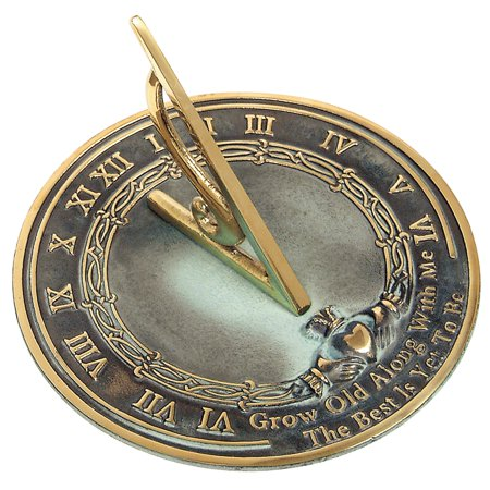 "Brass ""Grow Old with Me"" Sundial"