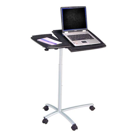 Ergonomic adjustable computer cart desk graphite - Computer cart walmart ...