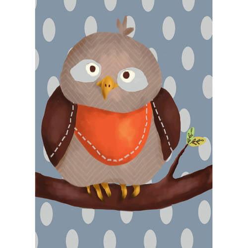 Oopsy Daisy's Oscar the Owl Canvas Wall Art, 10x14
