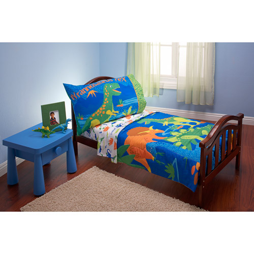 Everything for Kids Dinosaurs 3-piece Toddler Bedding Set with BONUS Matching Pillow Case