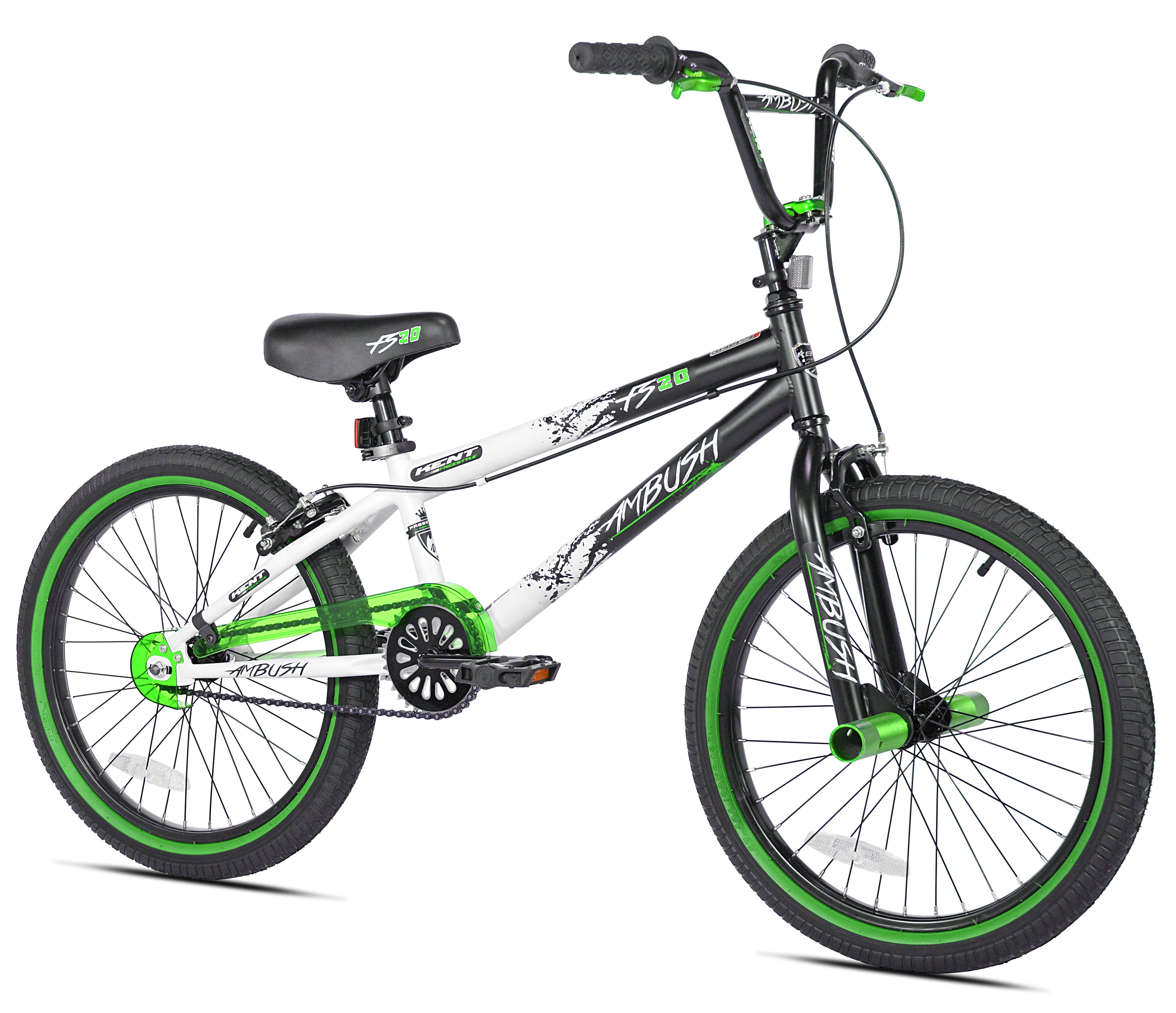 "Kent 20"" Boys', Ambush BMX Bike, Green, For Ages 8-12"