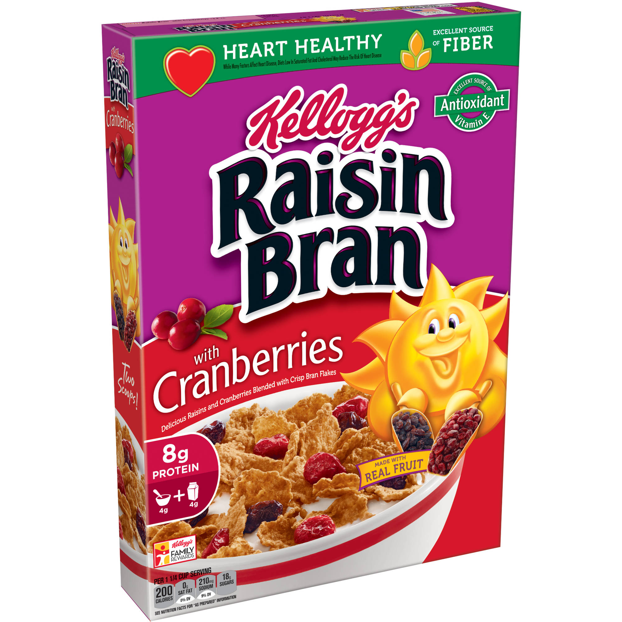 Kellogg's Raisin Bran Cereal with Cranberries, 13.5 oz