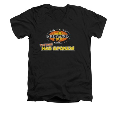 Survivor Cbs Tv Series Tribe Has Spoken Adult V Neck T Shirt Tee