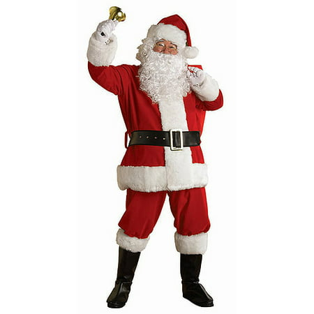 Regal Plush Santa Adult Costume - Adult Santa Outfit