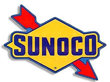 Sunoco Racing Gasoline Contour Cut Vinyl Decals Sign Stickers Motor Oil Gas