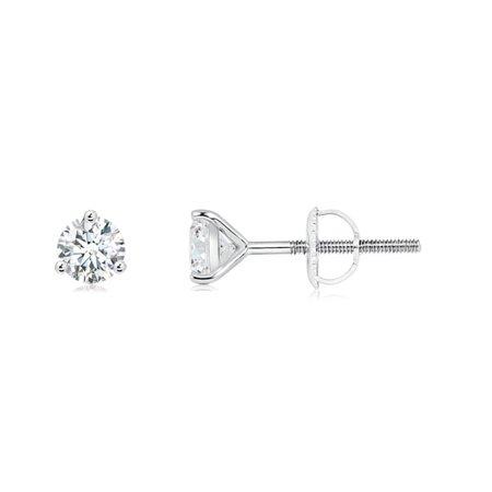 71176c4ce Angara - April Birthstone - Prong-Set Round Diamond Martini Stud Earrings  in 14K White Gold (4mm Diamond) - SE0977D-WG-GVS2-4 - Walmart.com