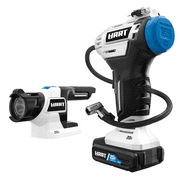 HART 20-Volt Cordless Inflator and LED Light Kit, (1) 1.5Ah Lithium-Ion Battery