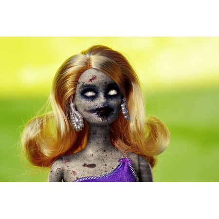 LAMINATED POSTER Horror Doll Halloween Toy Dead Scary Zombie Evil Poster Print 24 x 36
