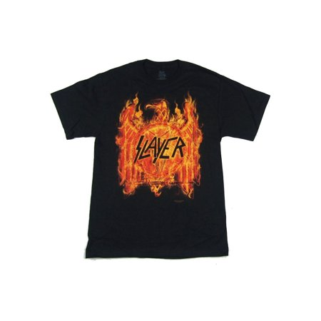 Slayer Flaming Eagle 2016 Tour Black T Shirt