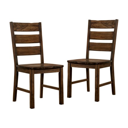 Rustic Wood Chairs - Furniture of America Jared Rustic Dining Chair - Set of 2