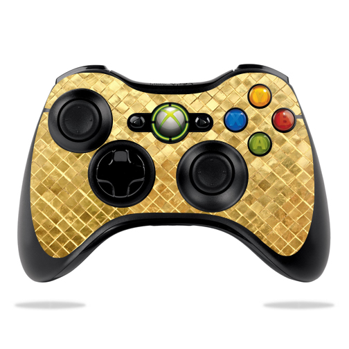 MightySkins Protective Vinyl Skin Decal for Microsoft Xbox 360 Controller Case wrap cover sticker skins Gold Tiles