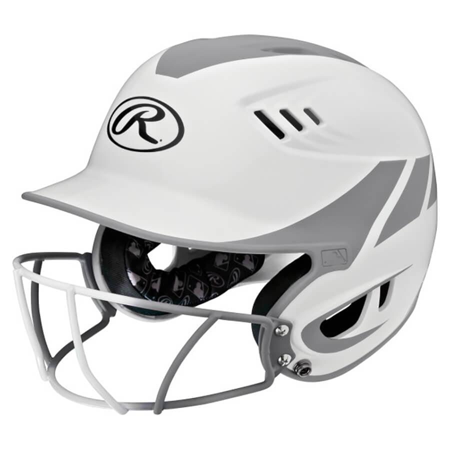 Rawlings Velo Two-Tone Junior Home Batting Helmet with Mask