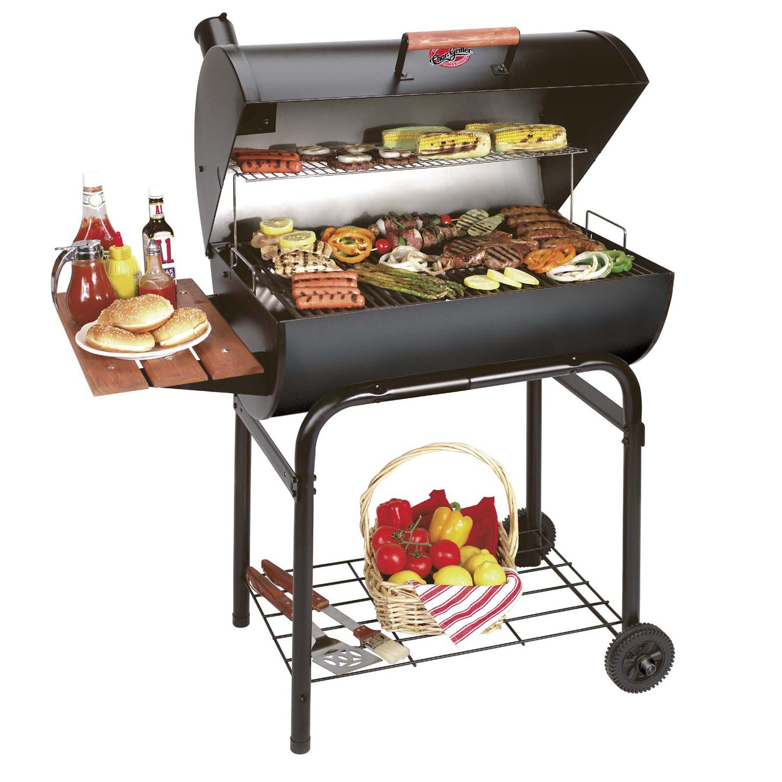 Elegant Char Griller Pro Deluxe Charcoal Grill