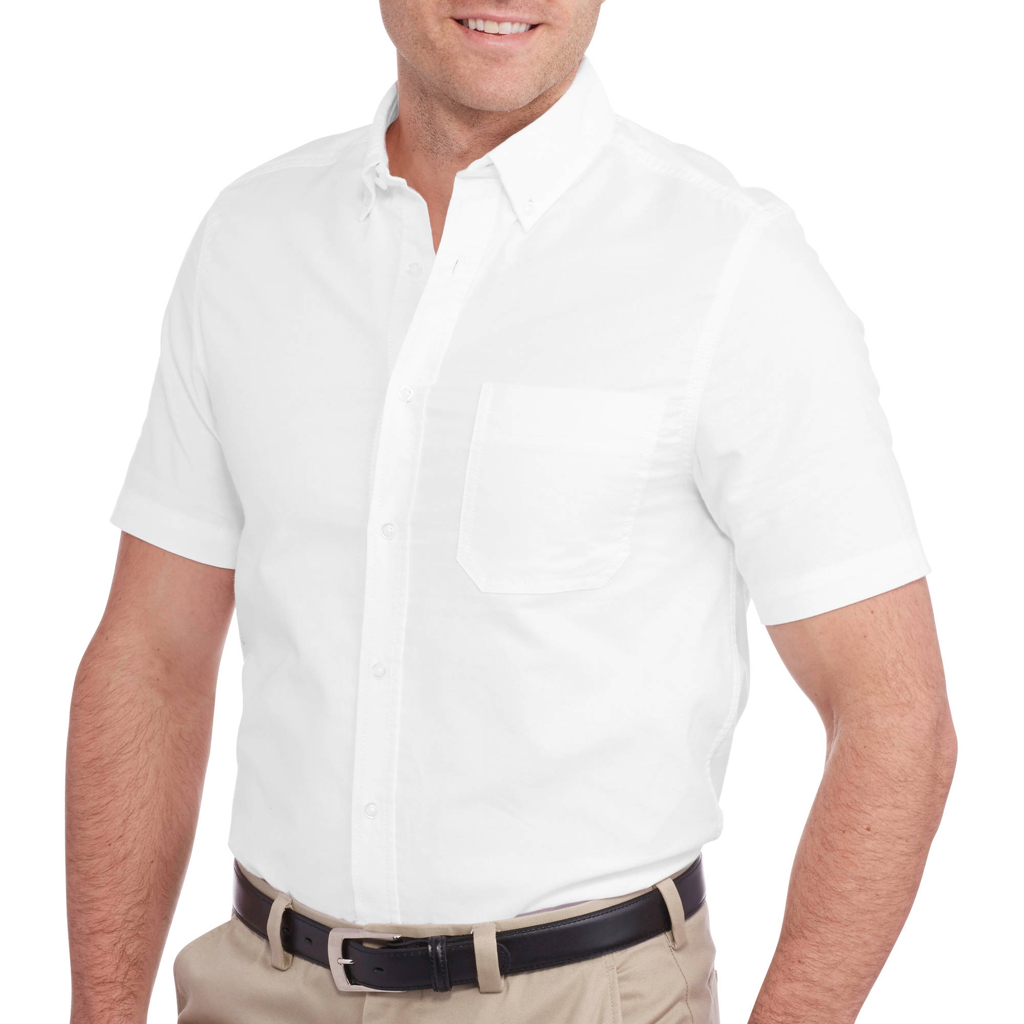 George Men's Short Sleeve Solid Oxford