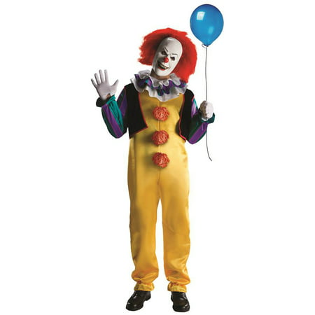 Pennywise Clown Deluxe from 1990 Movie Stephen King's IT Teen Adult Costume R881562 - Extra Small (up to 34 Chest)](Teen Movie Costumes)