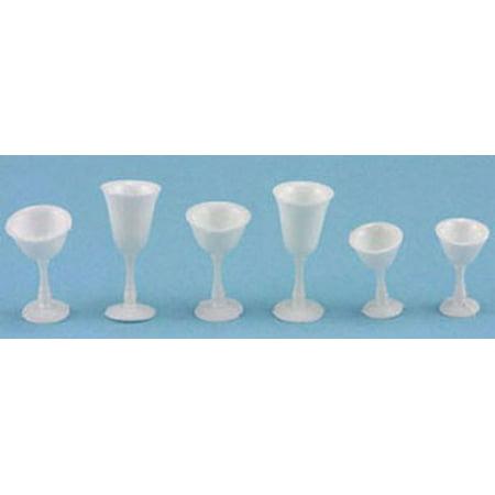 Dollhouse Stemware, White, 6/Pc (White Stemware)