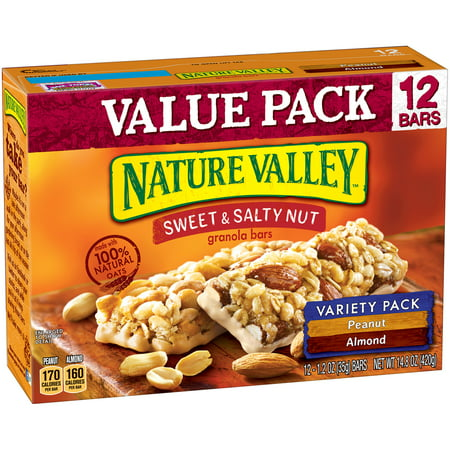 Nature Valley Sweet   Salty Nut Granola Bar Variety Pack Of Peanut And Almond 12   1 2 Oz Bars