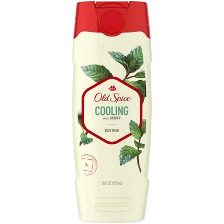 Basil Mint Body Wash - (2 pack) Old Spice Body Wash for Men Inspired by Nature Invigorate With Cooling Mint 16 oz