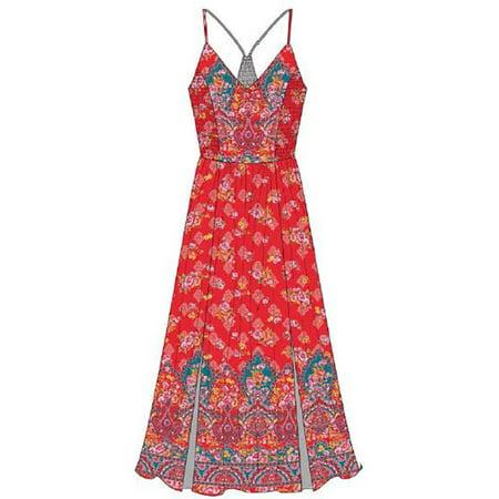 c0da2e65a9db53 Romantic Gypsy - Women s Plus Size Strappy Twin Print Maxi Dress - Walmart .com