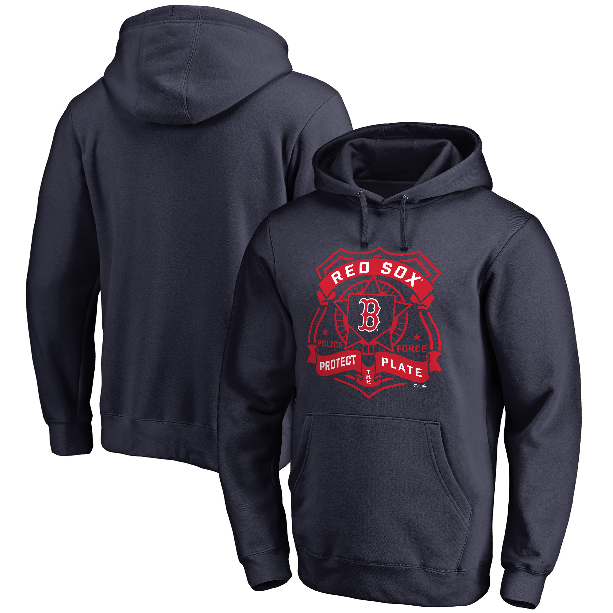 Boston Red Sox Police Badge Pullover Hoodie - Navy