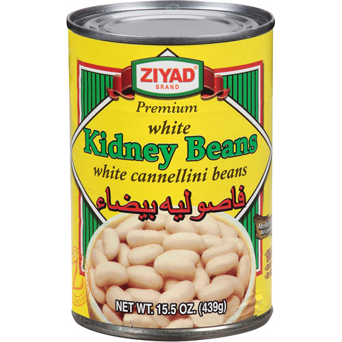 Ziyad White Kidney Beans, 15.5 oz, (Pack of 6)