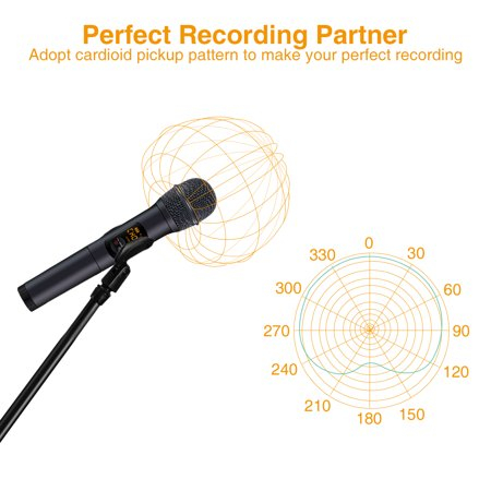 2 Pack Wireless Microphone Set, 10 Channel UHF Handheld HiFi Wireless Microphones Karaoke Receiver Dynamic Microphones for Wedding Speech Conference Karaoke Party - image 3 de 12