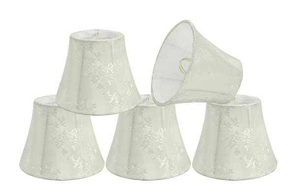 "Aspen Creative 30272-9 Small Bell Shape Chandelier Clip-On Lampshade Set (9 Pack), Transitional Design in Ivory, 5""... by Aspen Creative Corporation"