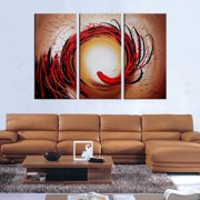 The Lighting Store Hand Painted 'Abstract-349' Oil Paint 3-piece Canvas Art Set