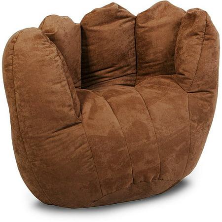 Baseball Glove Microsuede Bean Bag Chair Camel