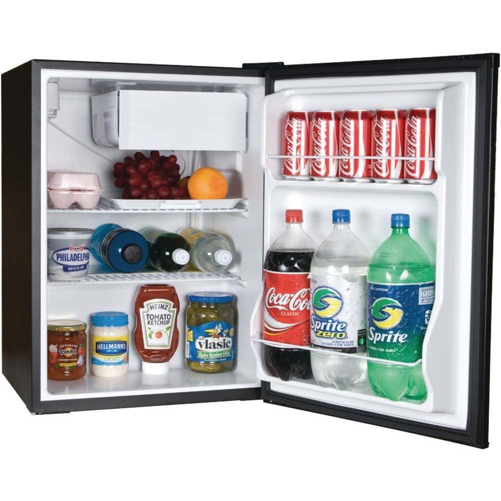 haier 2 7 cubic feet compact refrigerator black hrc2736bwb