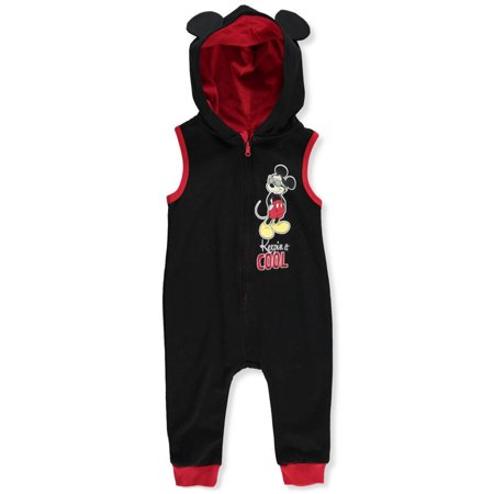 Disney Mickey Mouse Baby Boys' Hooded Coverall](Mickey Mouse For Toddlers)