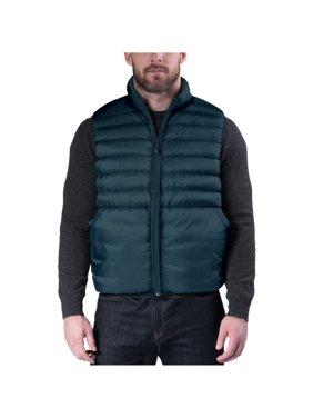 Hawke & Co Men's Ultra Lightweight Reversible Packable Down Vest, Black, 2XLarge
