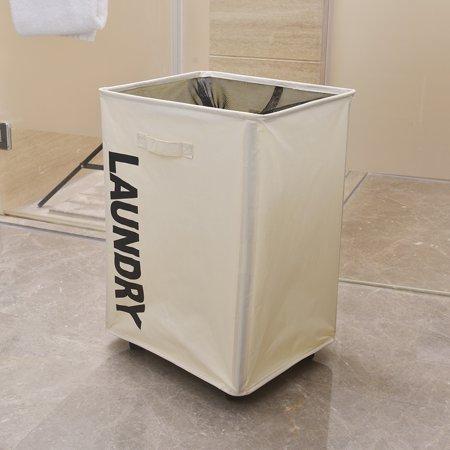 Laundry Basket For Home White Portable Slim Laundry