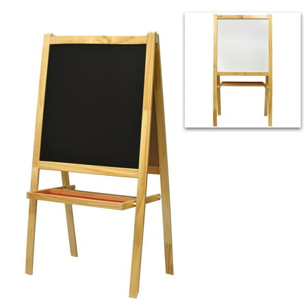Chalkboard Drawings Halloween (Children's Wooden Chalkboard Easel, Whiteboard & Drawing Paper Dispenser)
