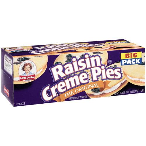 Little Debbie Snacks The Original Raisin Creme Pies, 25.5 oz
