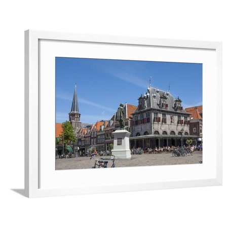 Town Square with Statue of Jan Pieterszoon Coen, Dutch East India Company, Hoorn, Holland, Europe Framed Print Wall Art By James (Town East Square)